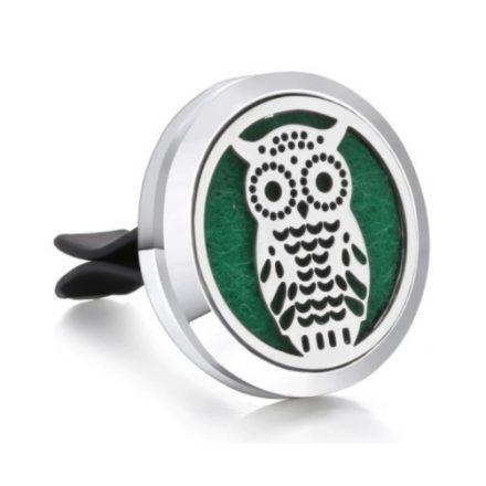 Essential oil, aroma car diffuser vent clip - Owl