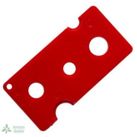 Nyitó esszenciális olaj / illóolajos üvegekhez - piros