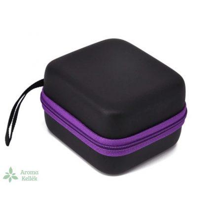 Rigid-walled essential oil case, holder - purple