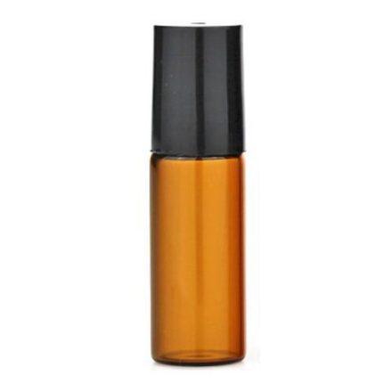 5 ml - es roller esszenciális olaj / illóolaj üveg - amber