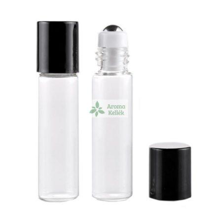 5 ml - es roller esszenciális olaj / illóolaj üveg - átlátszó