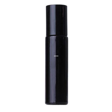 10 ml - es roller esszenciális olaj / illóolaj üveg - fekete