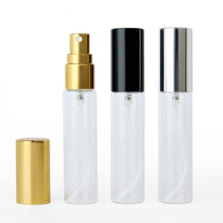 Szórófejes (spray) üveg fekete kupakkal - 10 ml