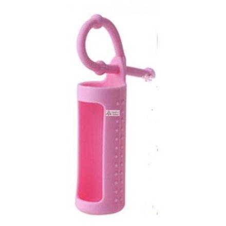 Szilikon illóolaj üvegtartó 10 ml-es üvegekre - rózsaszín
