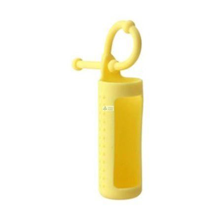 Szilikon illóolaj üvegtartó 10 ml-es üvegekre - sárga