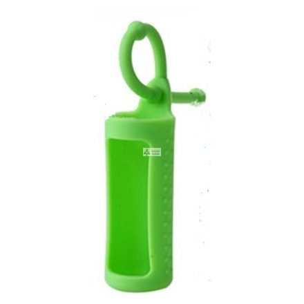 Szilikon illóolaj üvegtartó 10 ml-es üvegekre - zöld